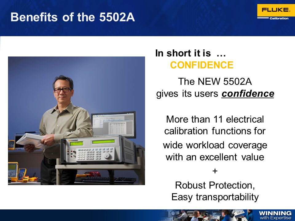 Benefits of the 5502A In short it is … CONFIDENCE