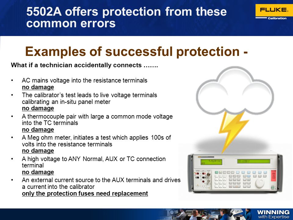 Examples of successful protection -