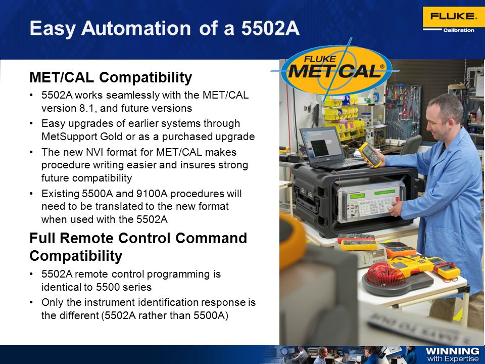 Easy Automation of a 5502A MET/CAL Compatibility