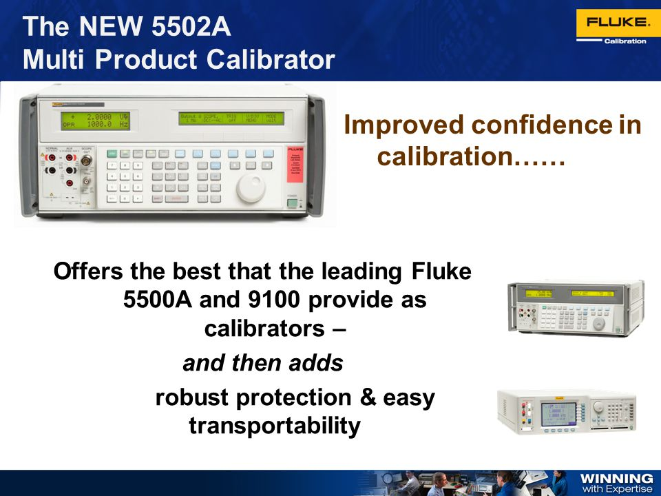 Improved confidence in calibration……