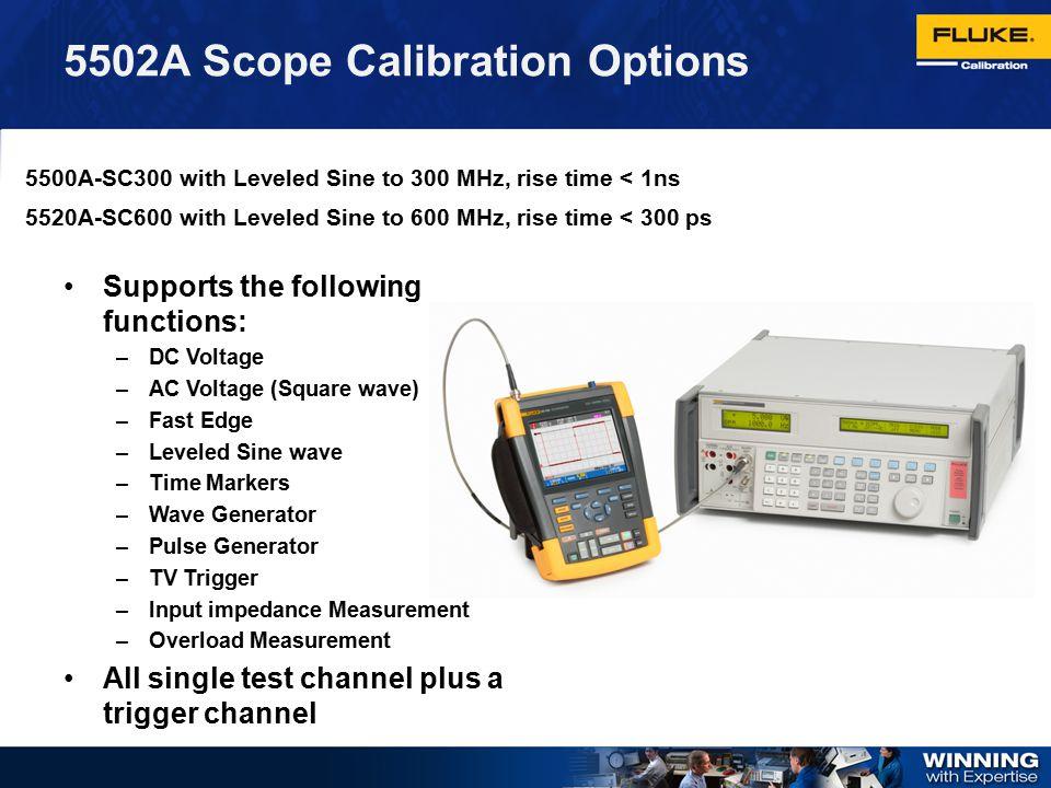 5502A Scope Calibration Options