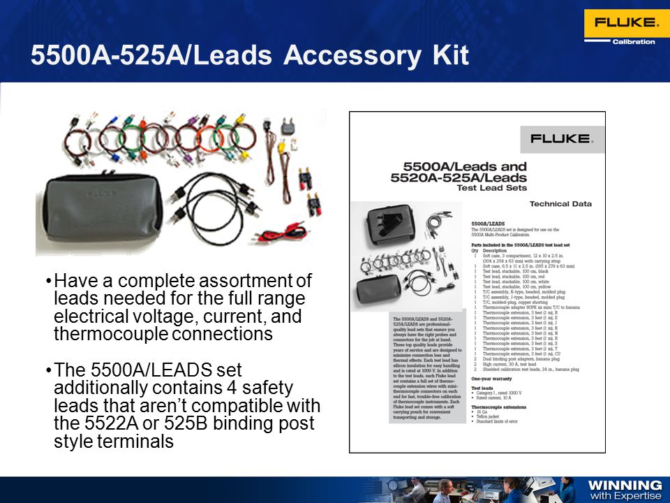 5500A-525A/Leads Accessory Kit