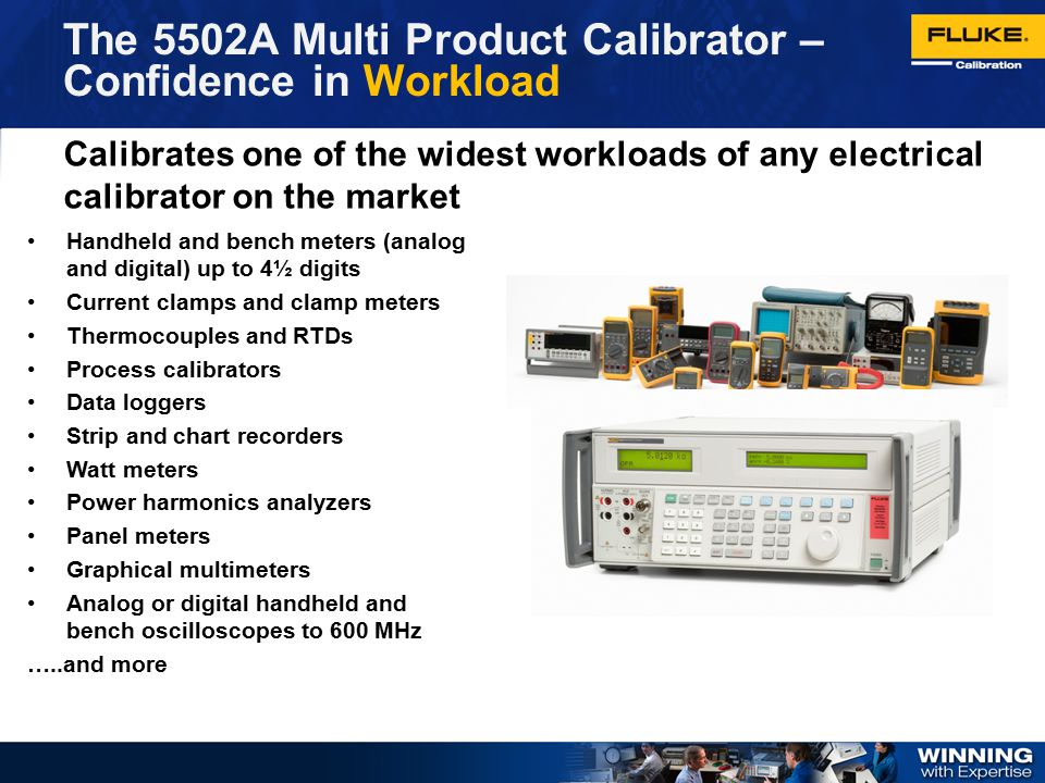 The 5502A Multi Product Calibrator – Confidence in Workload