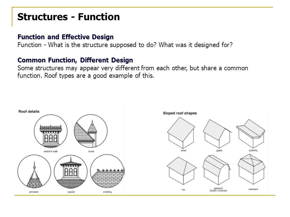 Structures - Function Function and Effective Design