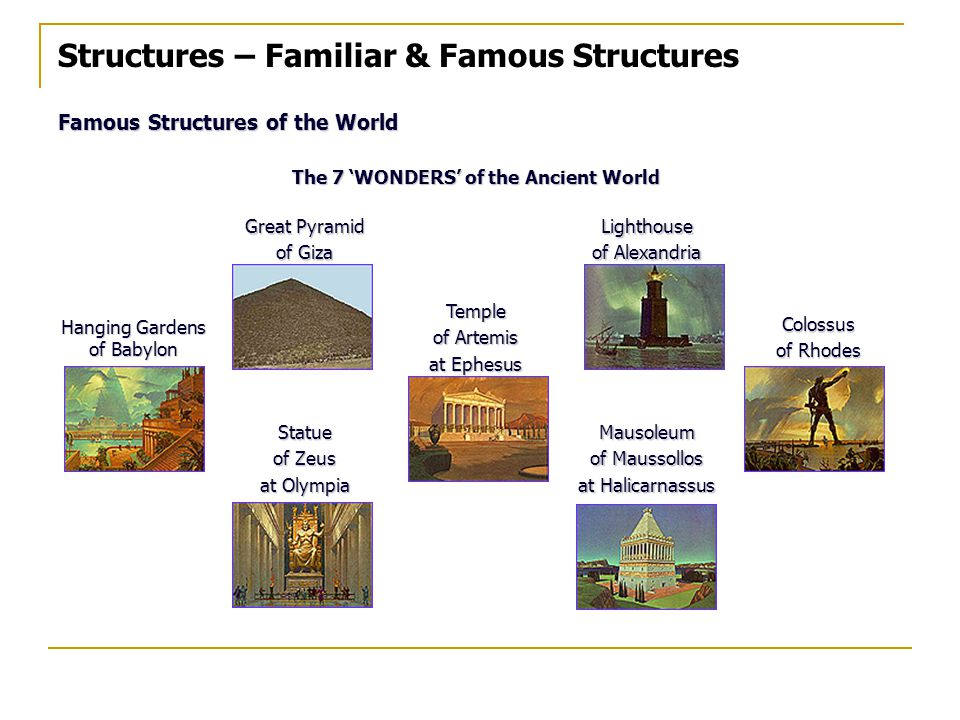The 7 'WONDERS' of the Ancient World