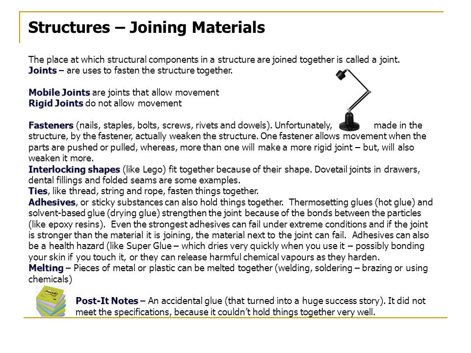 Structures – Joining Materials