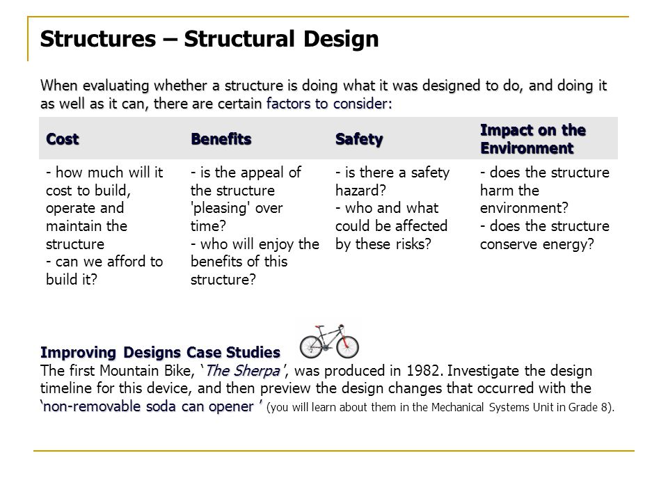 Structures – Structural Design