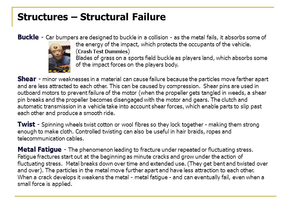 Structures – Structural Failure