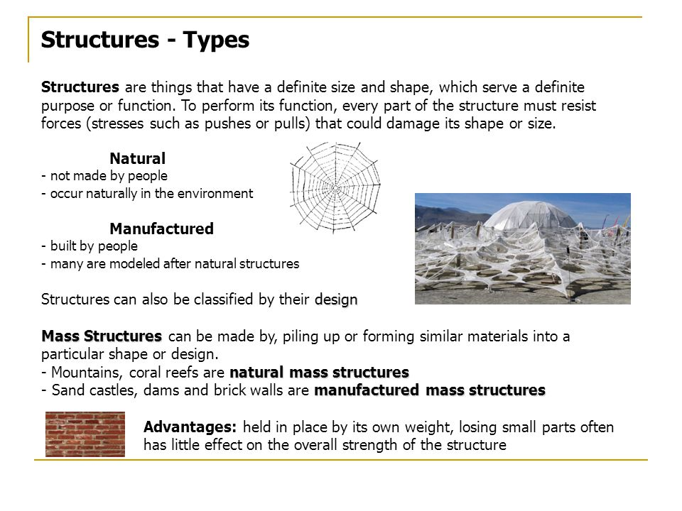 Structures - Types