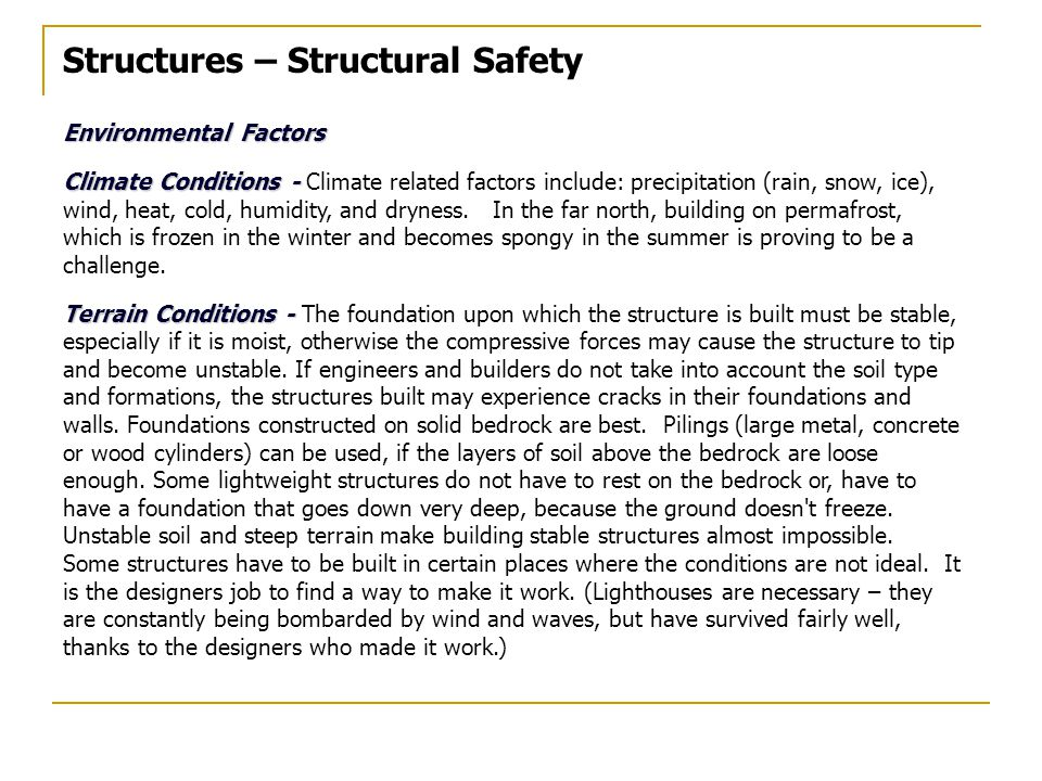 Structures – Structural Safety