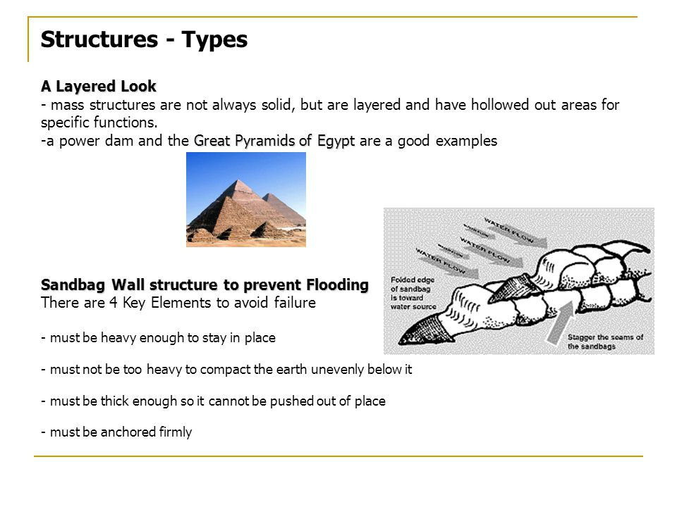 Structures - Types A Layered Look