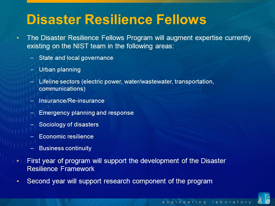 Disaster Resilience Fellows