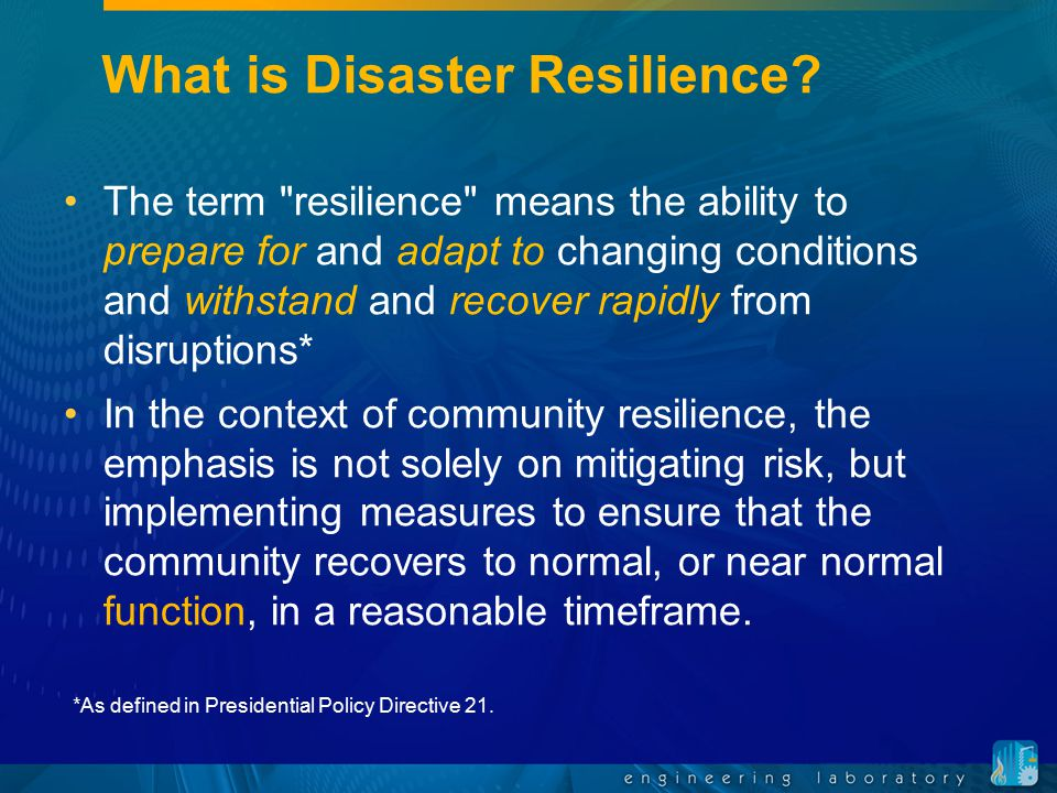 What is Disaster Resilience