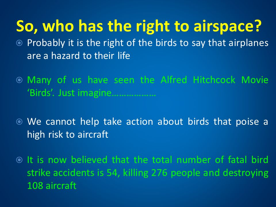 So, who has the right to airspace