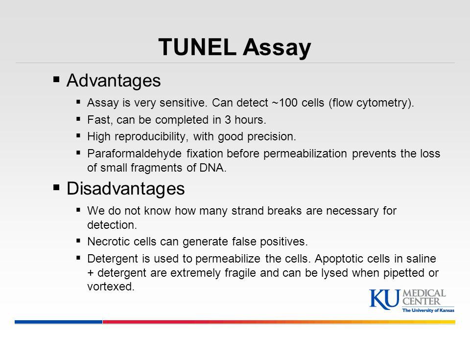 TUNEL Assay Advantages Disadvantages