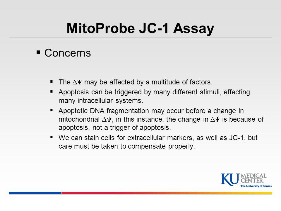 MitoProbe JC-1 Assay Concerns