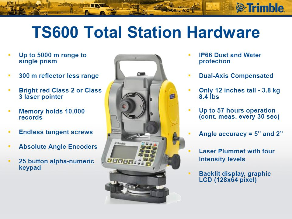 TS600 Total Station Hardware