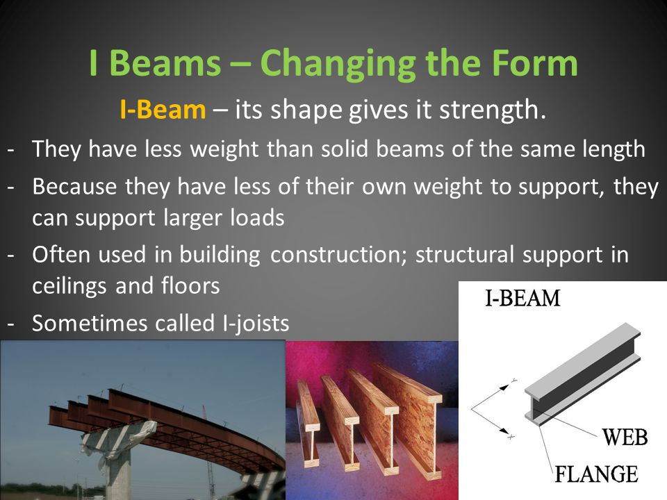 I Beams – Changing the Form