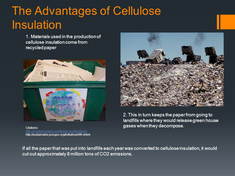 The Advantages of Cellulose Insulation