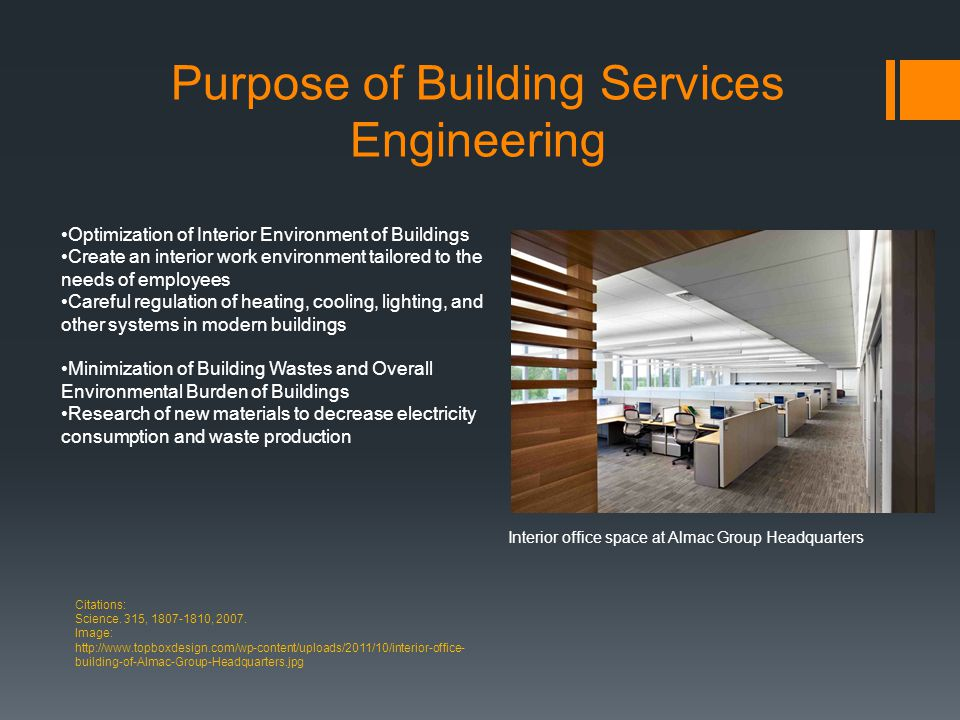 Purpose of Building Services Engineering