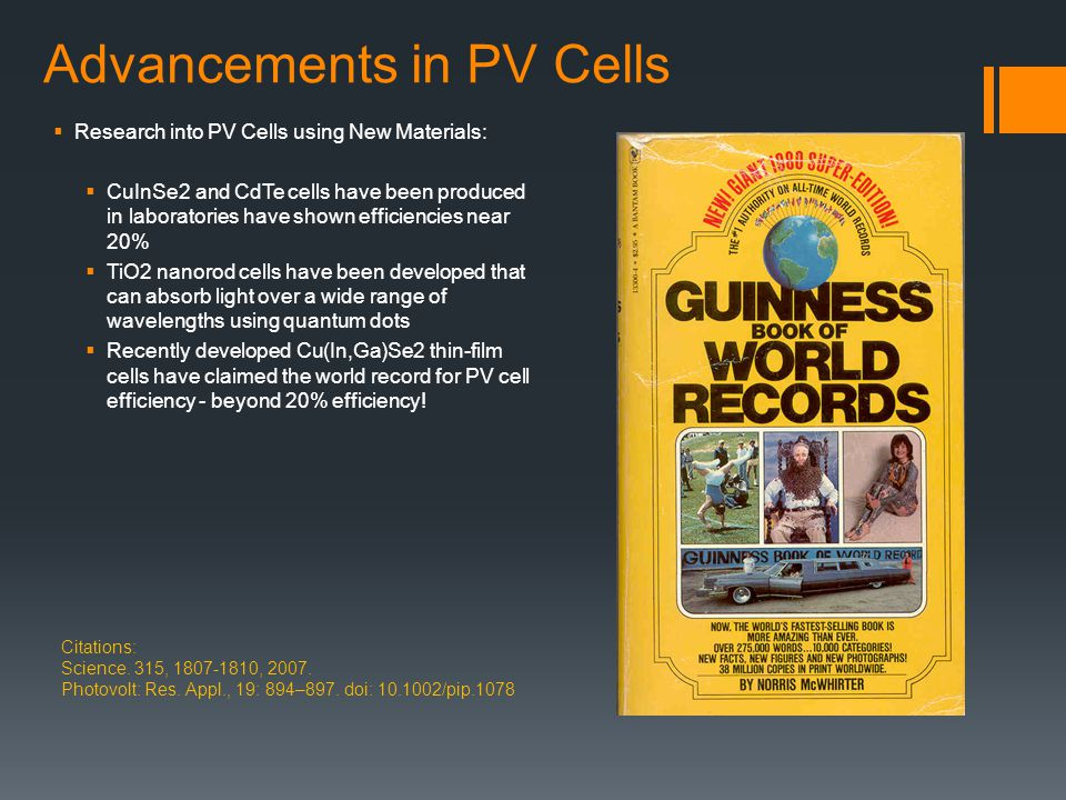 Advancements in PV Cells