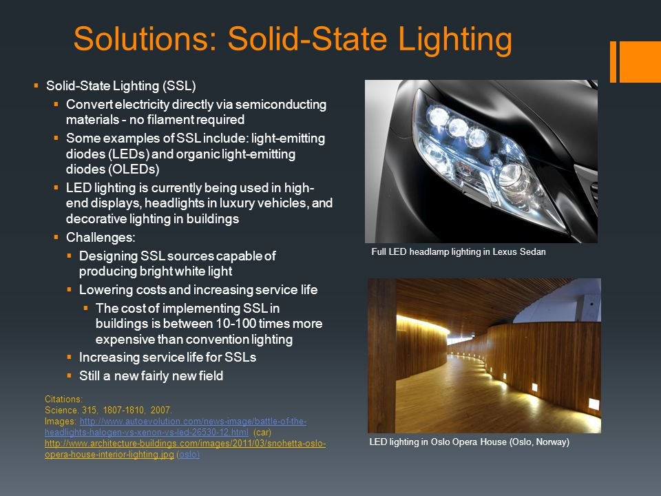 Solutions: Solid-State Lighting