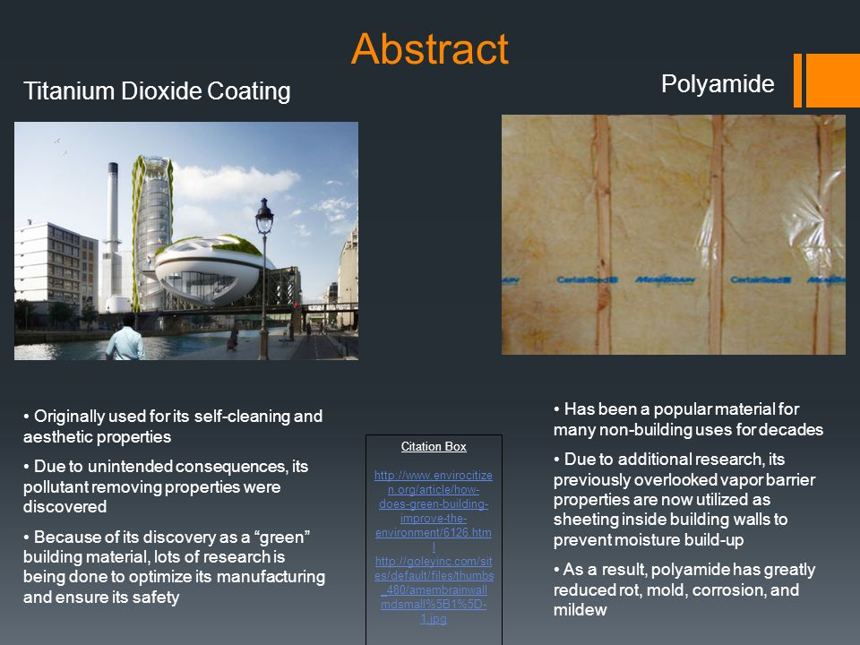 Abstract Polyamide Titanium Dioxide Coating