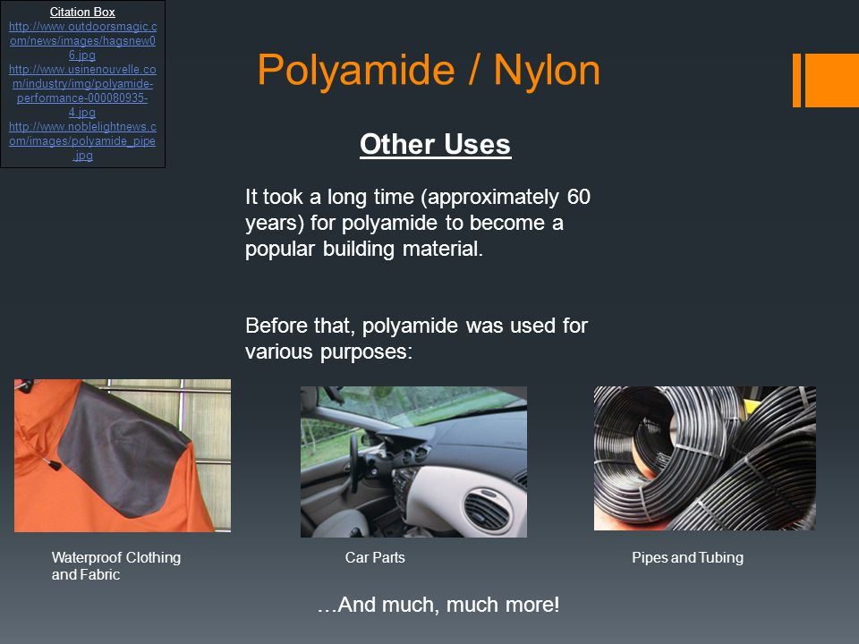 Polyamide / Nylon Other Uses