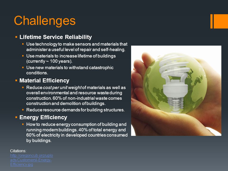 Challenges Lifetime Service Reliability Material Efficiency