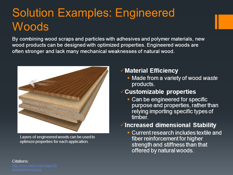 Solution Examples: Engineered Woods