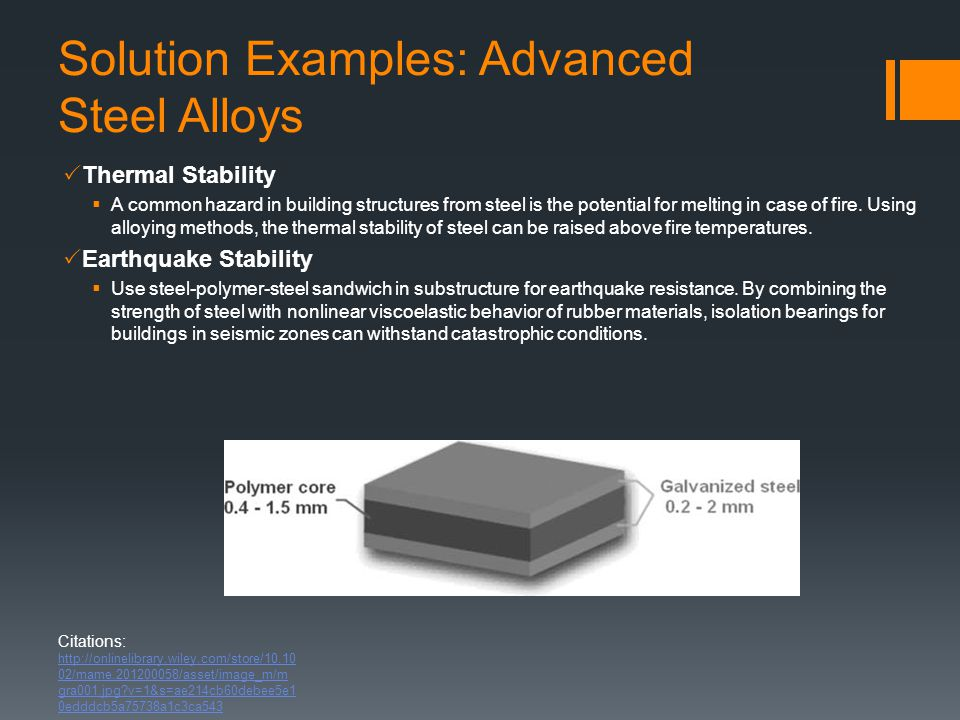 Solution Examples: Advanced Steel Alloys