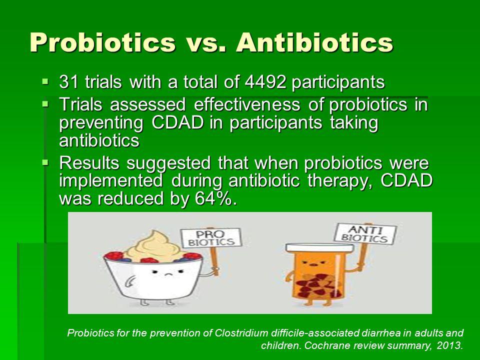 Probiotics vs. Antibiotics