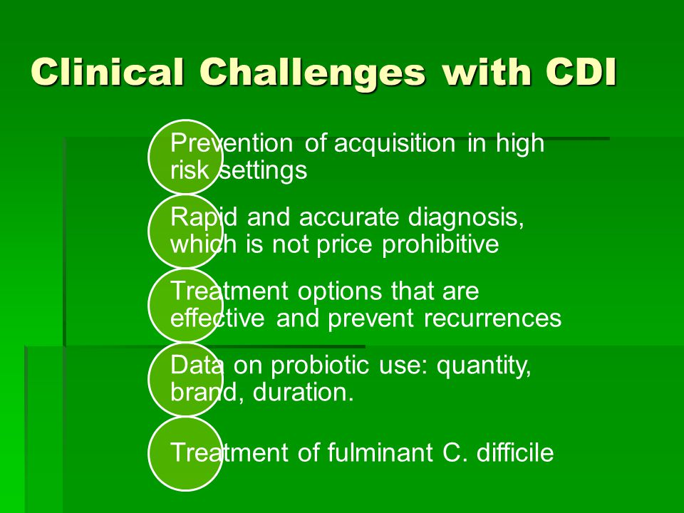 Clinical Challenges with CDI