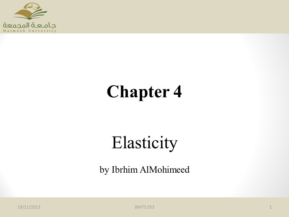 Elasticity by Ibrhim AlMohimeed