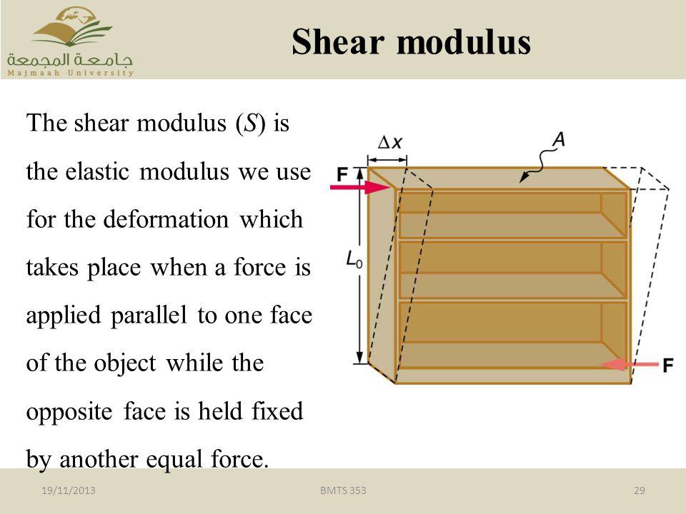 Shear modulus