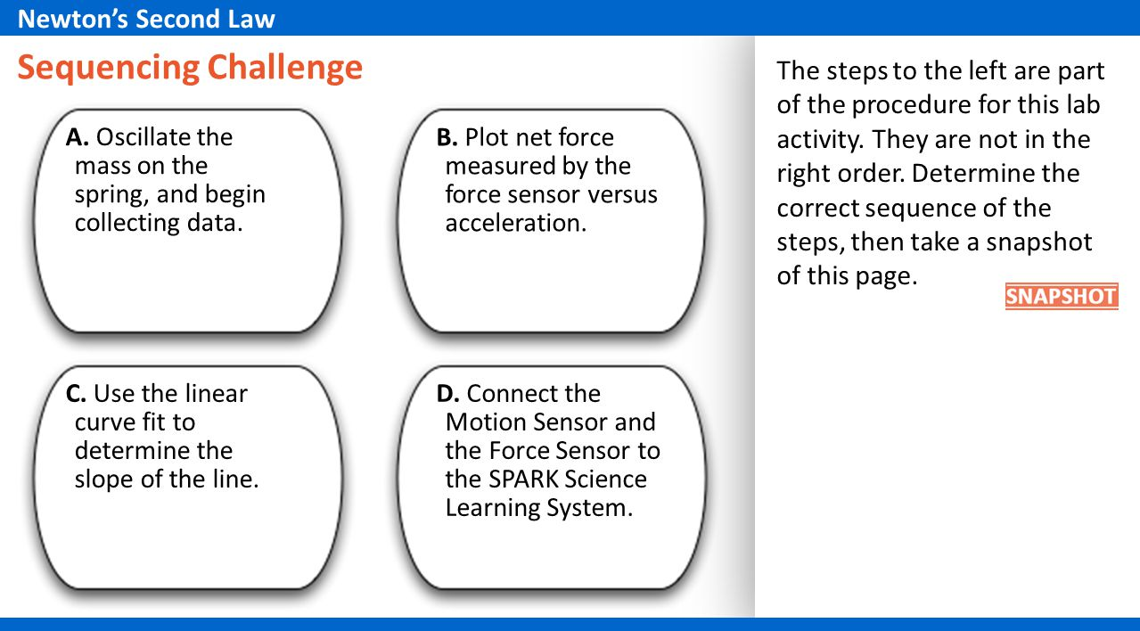 Sequencing Challenge Newton's Second Law