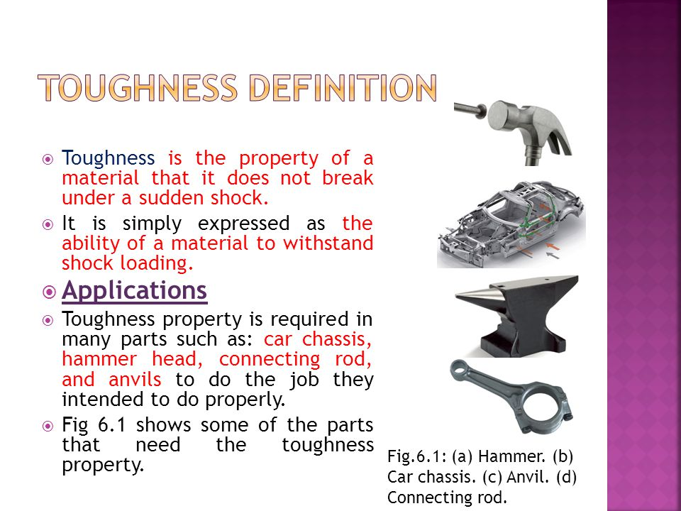 Toughness definition Applications