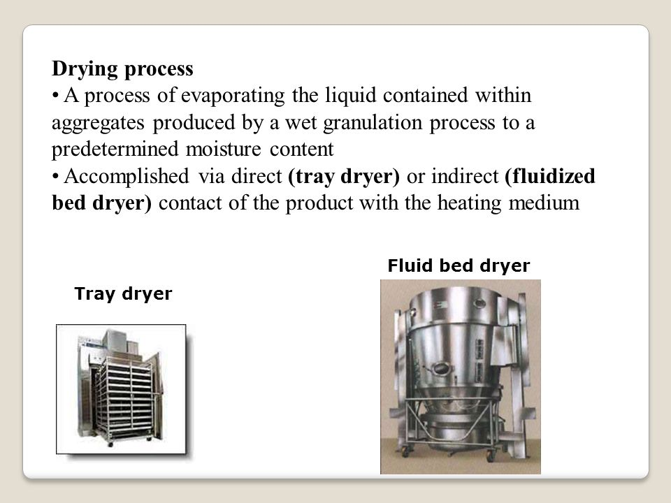 Drying process