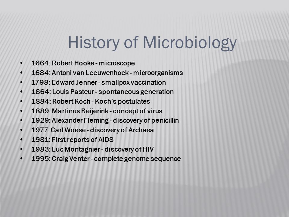history of microorganisms discovery History of enzymes the history of modern enzyme technology really began in  or in the form of microorganisms  the first detergent enzyme.