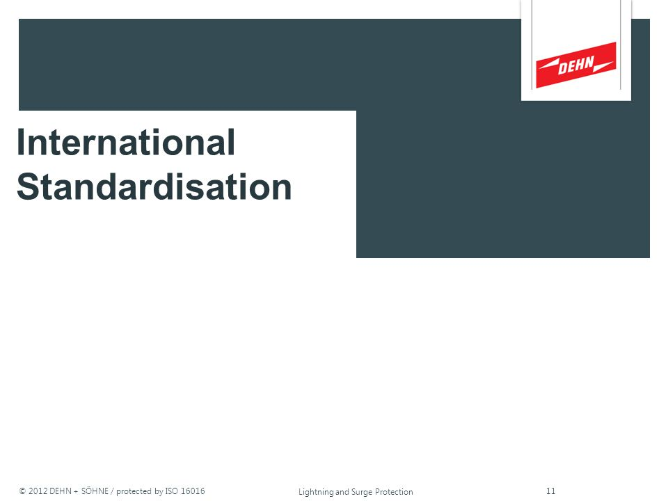 International Standardisation
