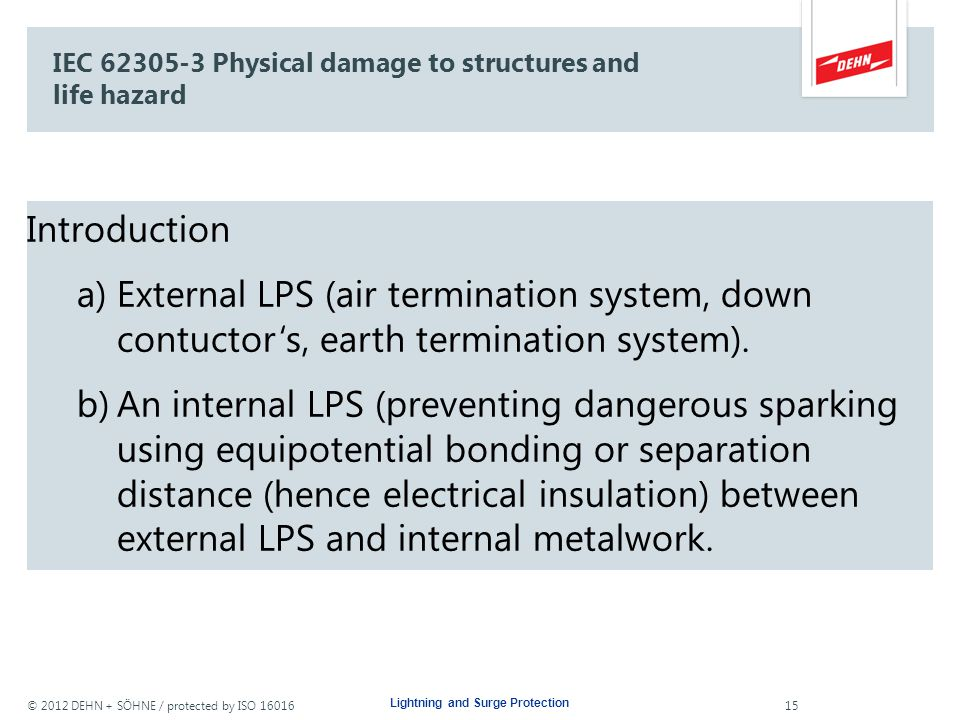 IEC 62305-3 Physical damage to structures and life hazard