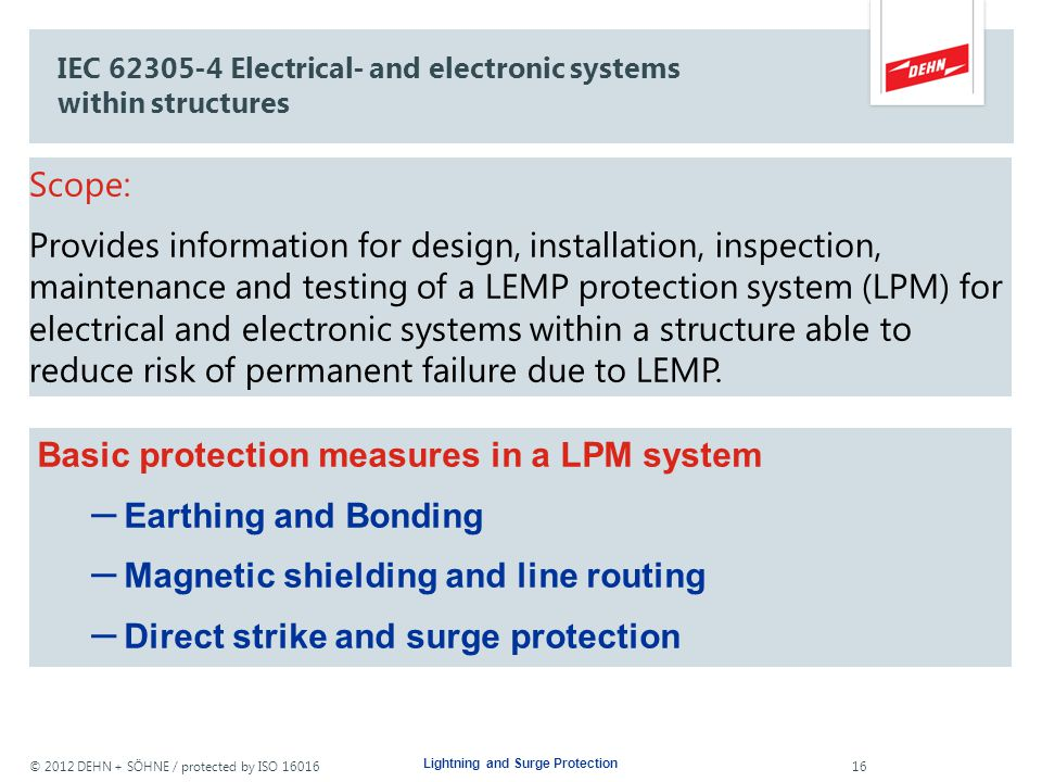 IEC 62305-4 Electrical- and electronic systems within structures