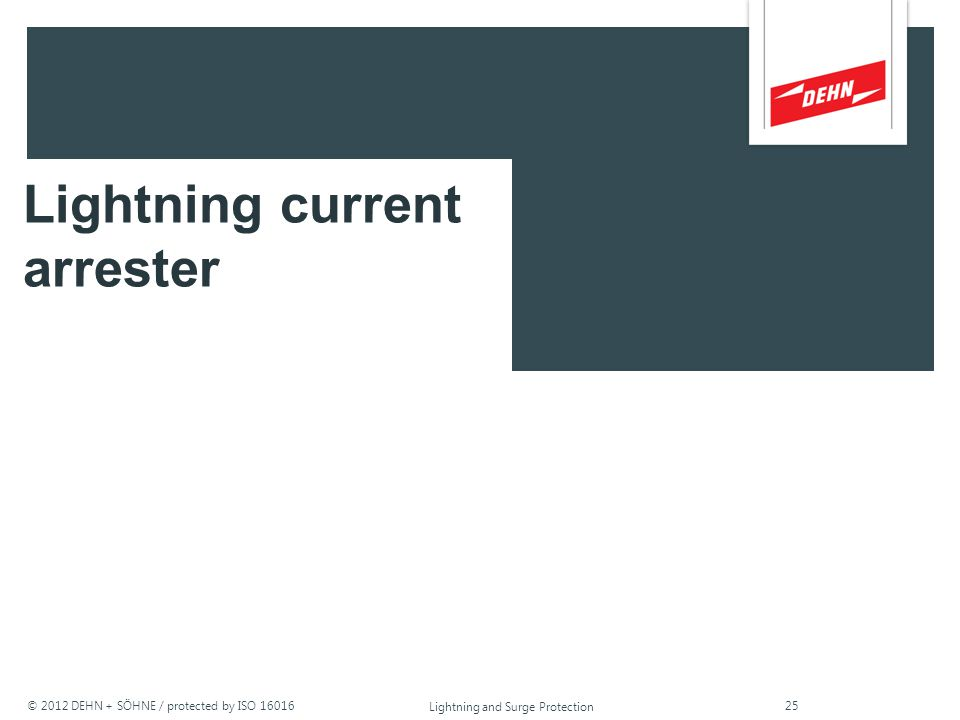 Lightning current arrester
