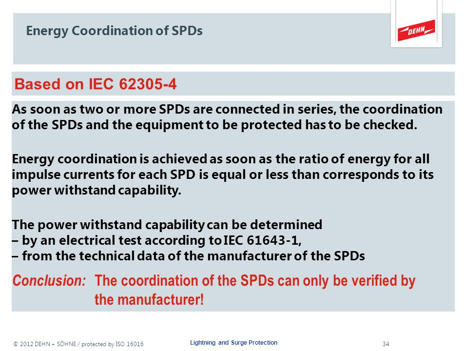 Energy Coordination of SPDs