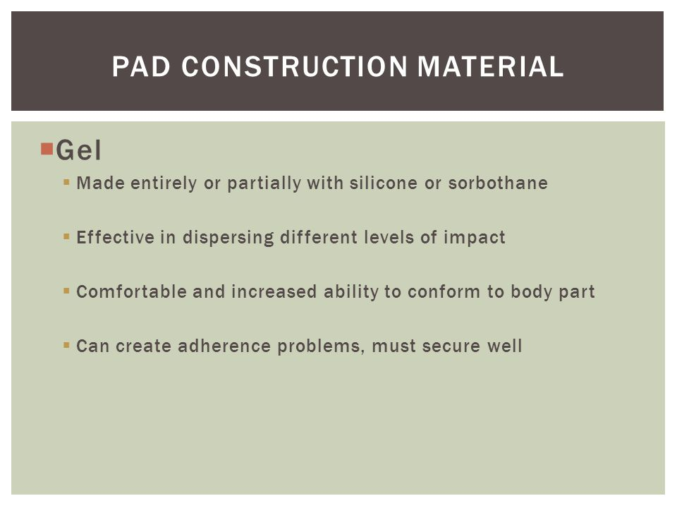 Pad Construction material