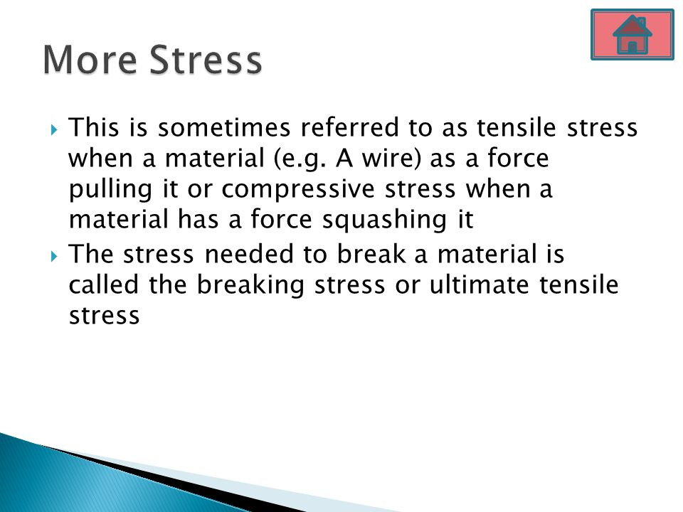 More Stress