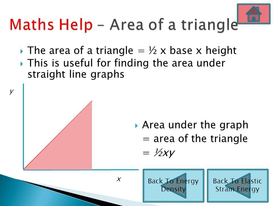 Maths Help – Area of a triangle