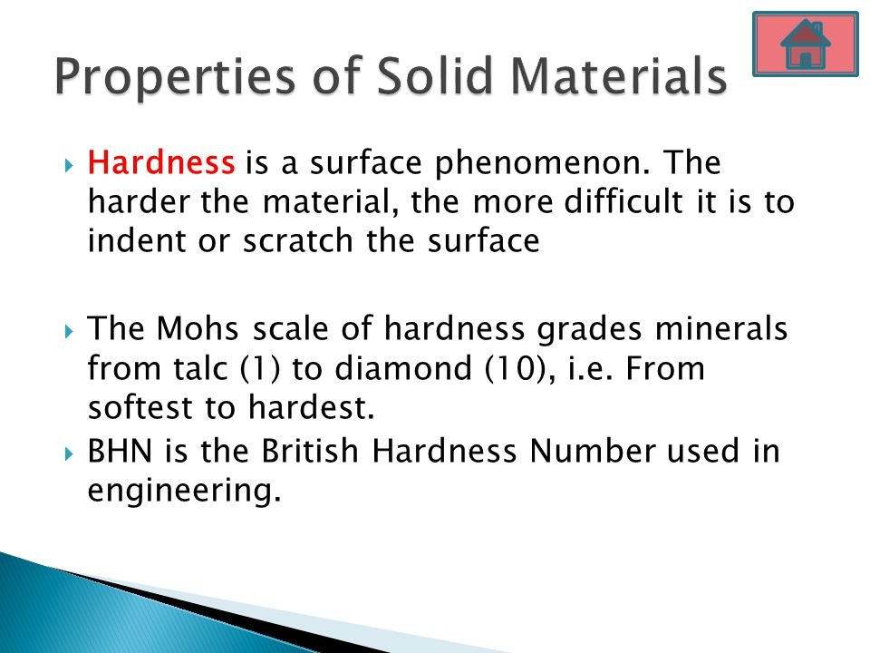 Properties of Solid Materials