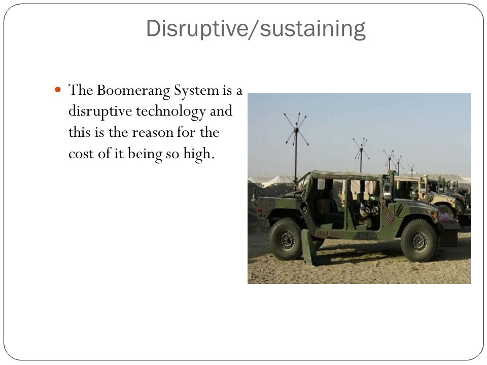 Disruptive/sustaining