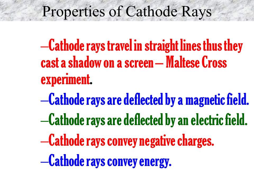 Properties of Cathode Rays